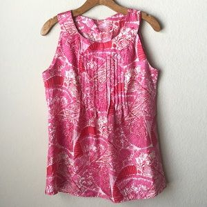 Lilly Pulitzer Dahlia Silk Print Top